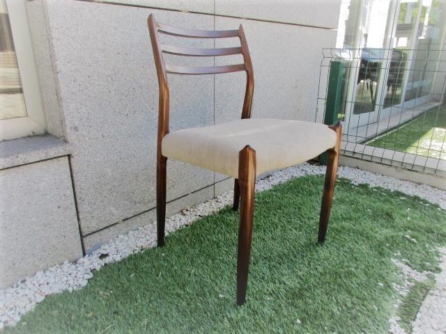 Nordic chair, design by N Moller, model 78. Nordic furniture in Porto. Vintage furniture in Porto. Restoration of furniture in Porto.