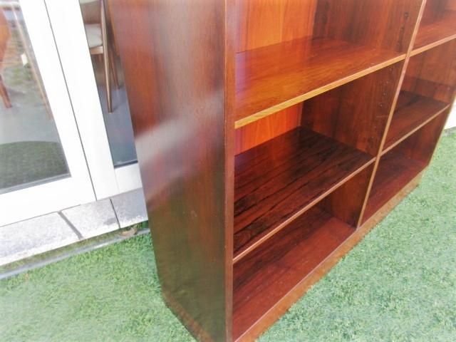 Nordic Bookcase in rosewood, designed by Omann Jun, model 12.Nordic furniture in Porto.Vintage furniture in Porto.Restoration of furniture in Porto.
