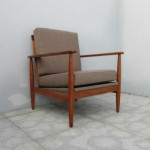 Nordic type chair with wooden arms and back. Nordic furniture. Vintage furniture. Classical furniture. Restoration.
