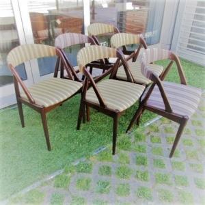 Cadeiras nórdicas em teca, desenhadas por Kai Kristiansen, modelo 31