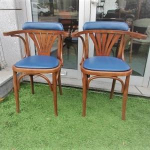 Cadeiras desenhadas por Michael Thonet, modelo B25 Bentwood