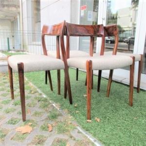 Cadeira tipo nórdico, com desenho de Niels Moller